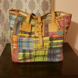 Dooney & Bourke picnic style tote purse